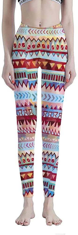 Tamengi High Waisted Leggings for Women, Aztecnationalpatterncolor Tummy Control Workout Yoga Pants