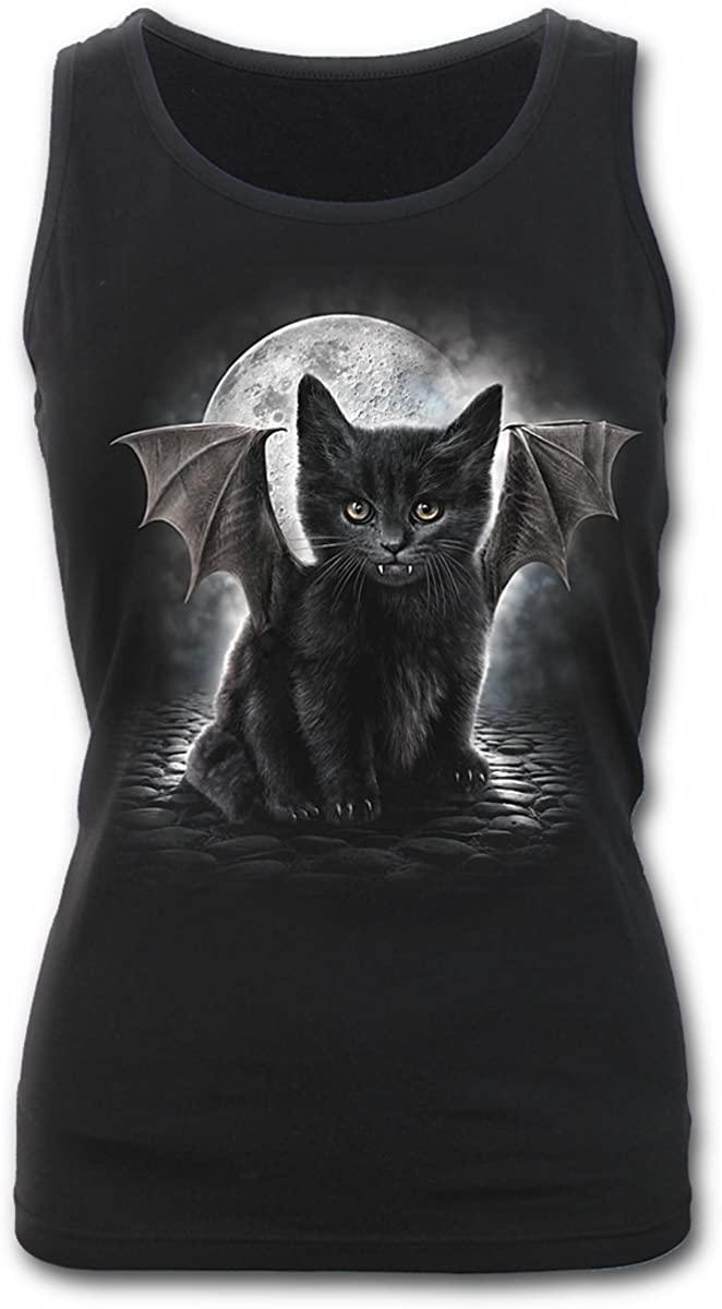 Spiral Womens - Bat CAT - Razor Back Top Black - XXL