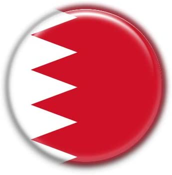 Bahrain : National Flag, Pinback Button Badge 1.50 Inch (38mm)