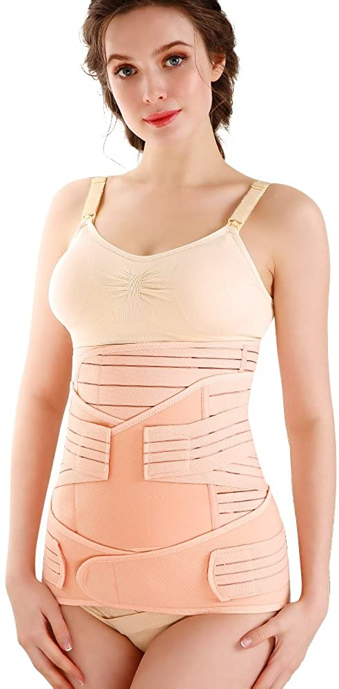 OCTQUEEN 3 in 1 Postpartum Recovery Belts for Stomach,Belly and Pelvis