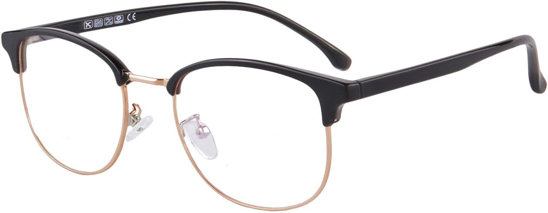SHINU Anti Blue Light Unisex Progressive Multifocus Reading Glasses with Oval TR90 Frame-MATT6595