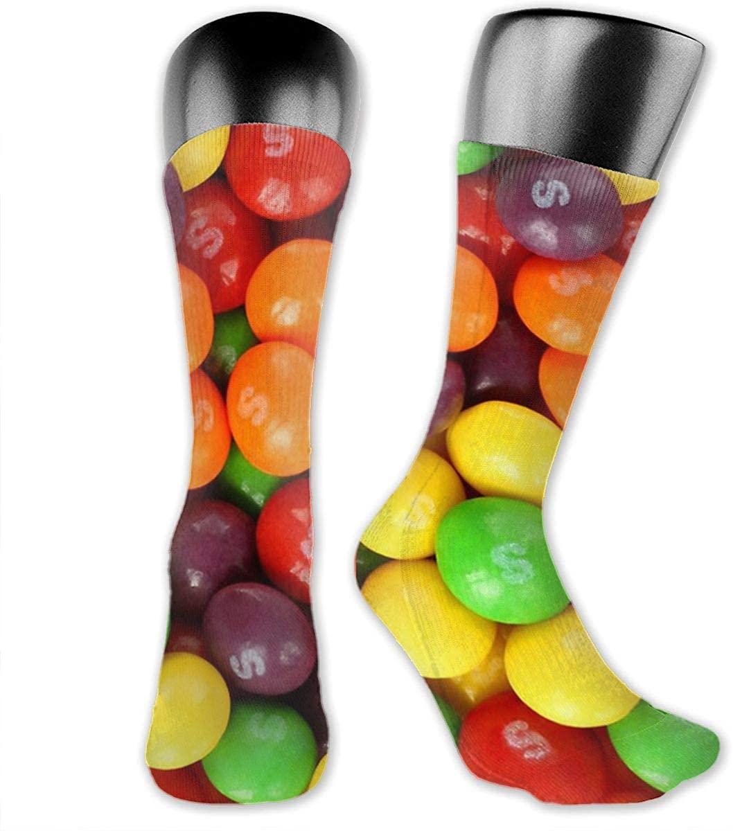 Unisex Crazy Funny Skittles Socks Colorful Running Medica Socks Novelty Casual Crew Socks