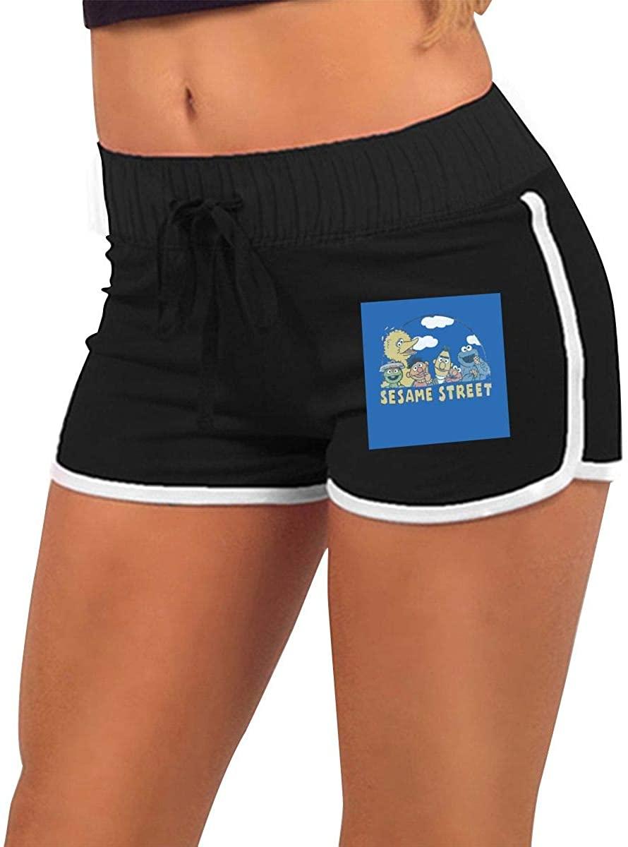Sesame Street High Waisted Jean Shorts Sexy Button Low Waist Denim Jeans Shorts Super Mini Hot Pants.