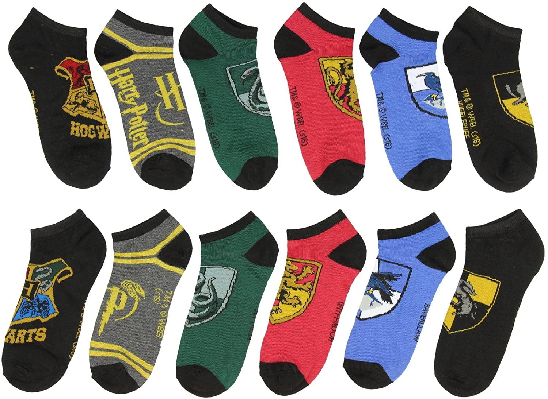 Harry Potter Woman's 6 Pairs Socks Hogwarts Gryffindor Hufflepuff Ravenclaw