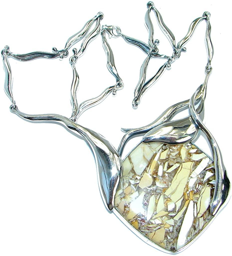 Australian Mookaite Women 925 Sterling Silver Necklace - FREE GIFT BOX