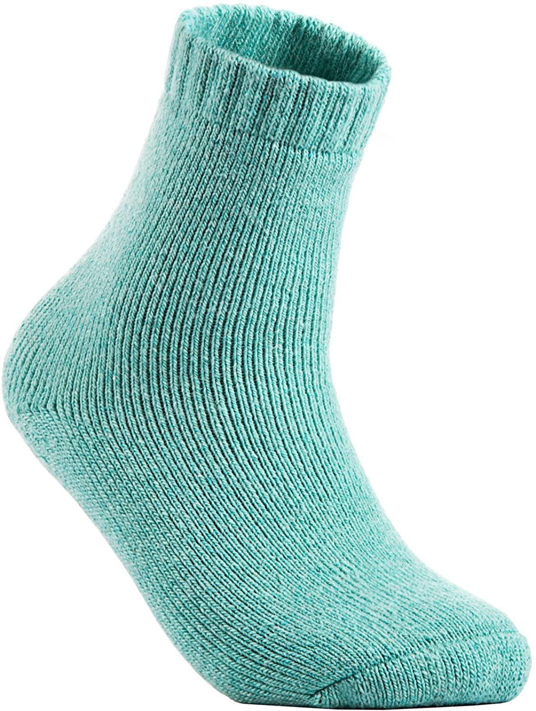 Lian LifeStyle Women's 2 Pairs Pack Soft Wool Blend Crew Socks Size 6-9 LK1602