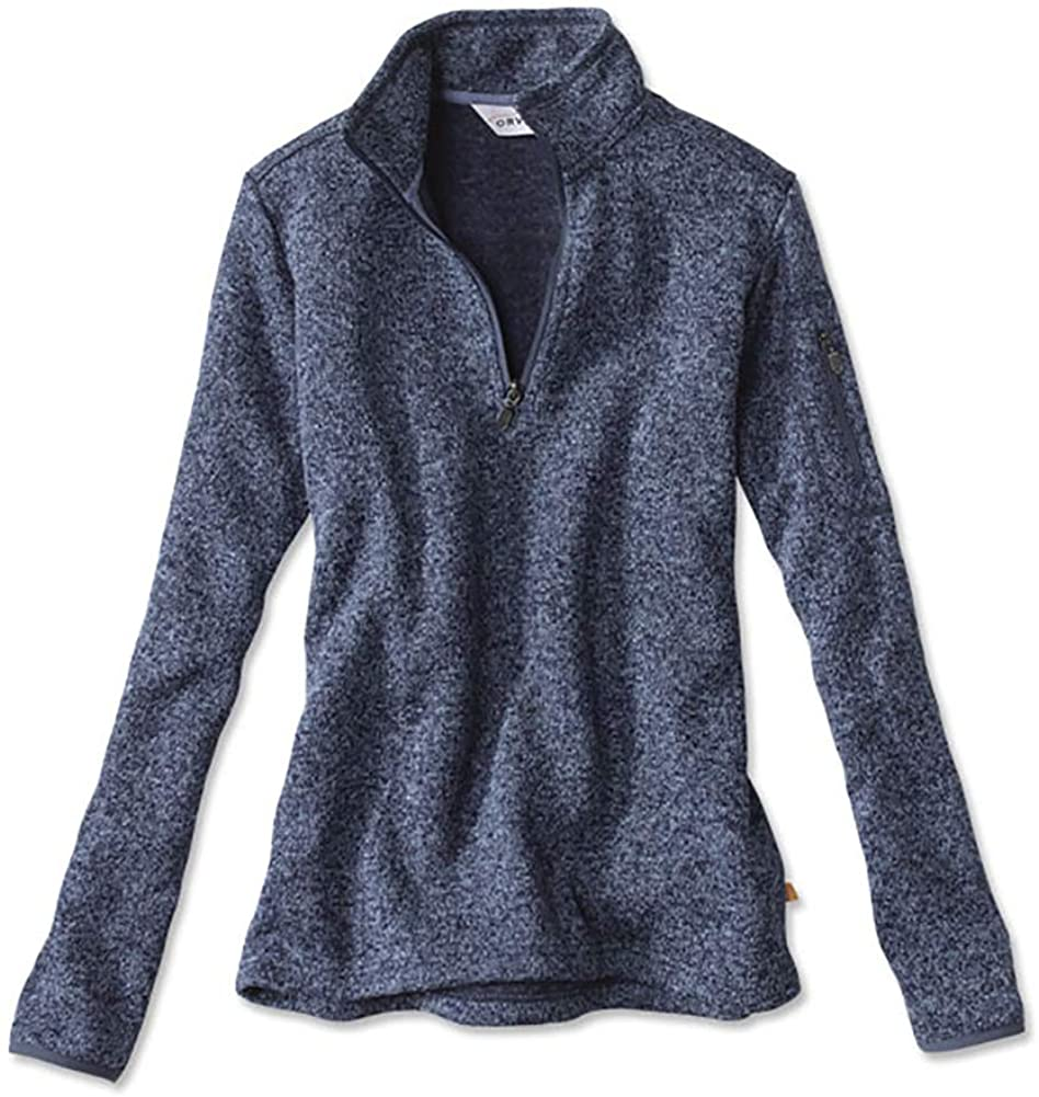 Orvis Women's Marled Sweater Fleece Quarter-Zip/Marled Sweater-Fleece Quarter-Zip