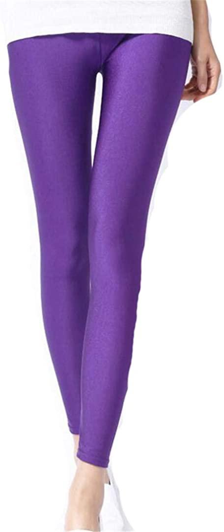 MESEXLEG Spring Solid Candy Neon Leggings for Women Stretched Legging Pants Girl Clothing Leggins Plus Size