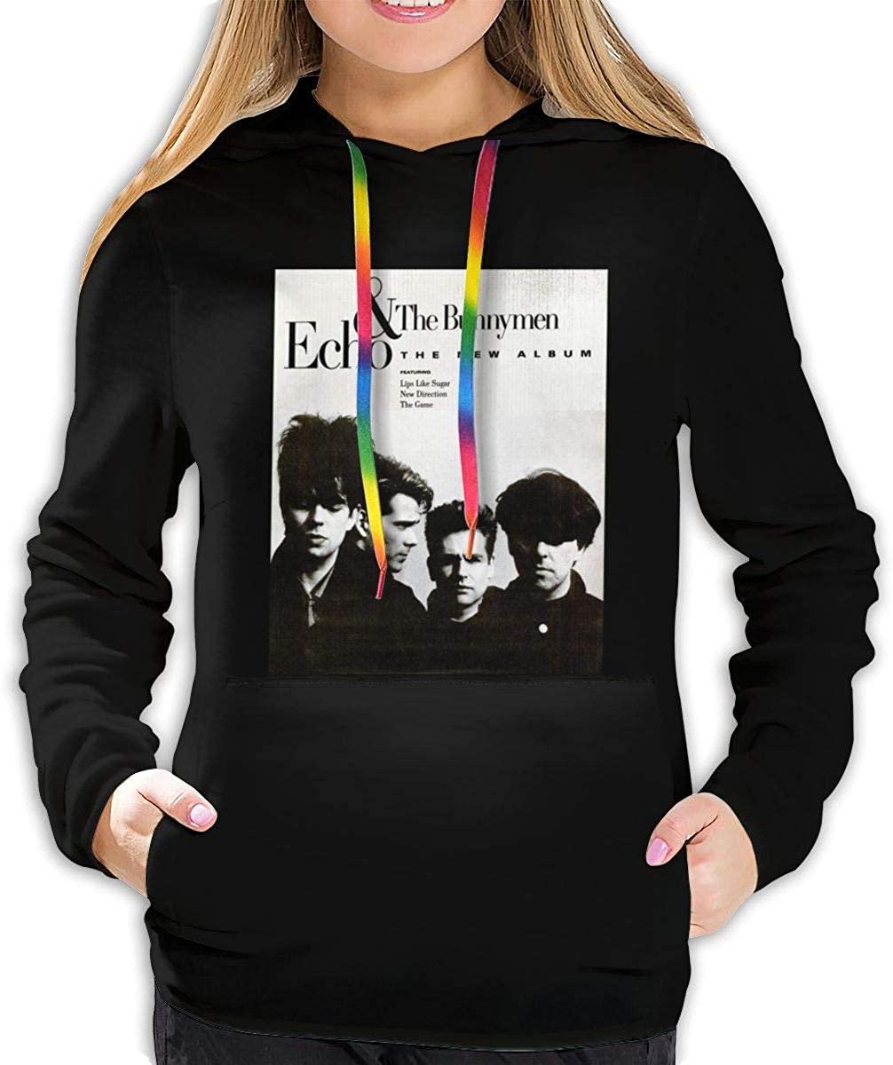 AP.Room Ladies Long Sleeve Fashion Echo & The Bunnymen Hoodie Pullover