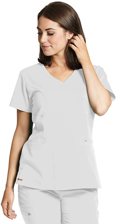 Grey's Anatomy GRST001 Women's Kim Princess Scrub Top White L
