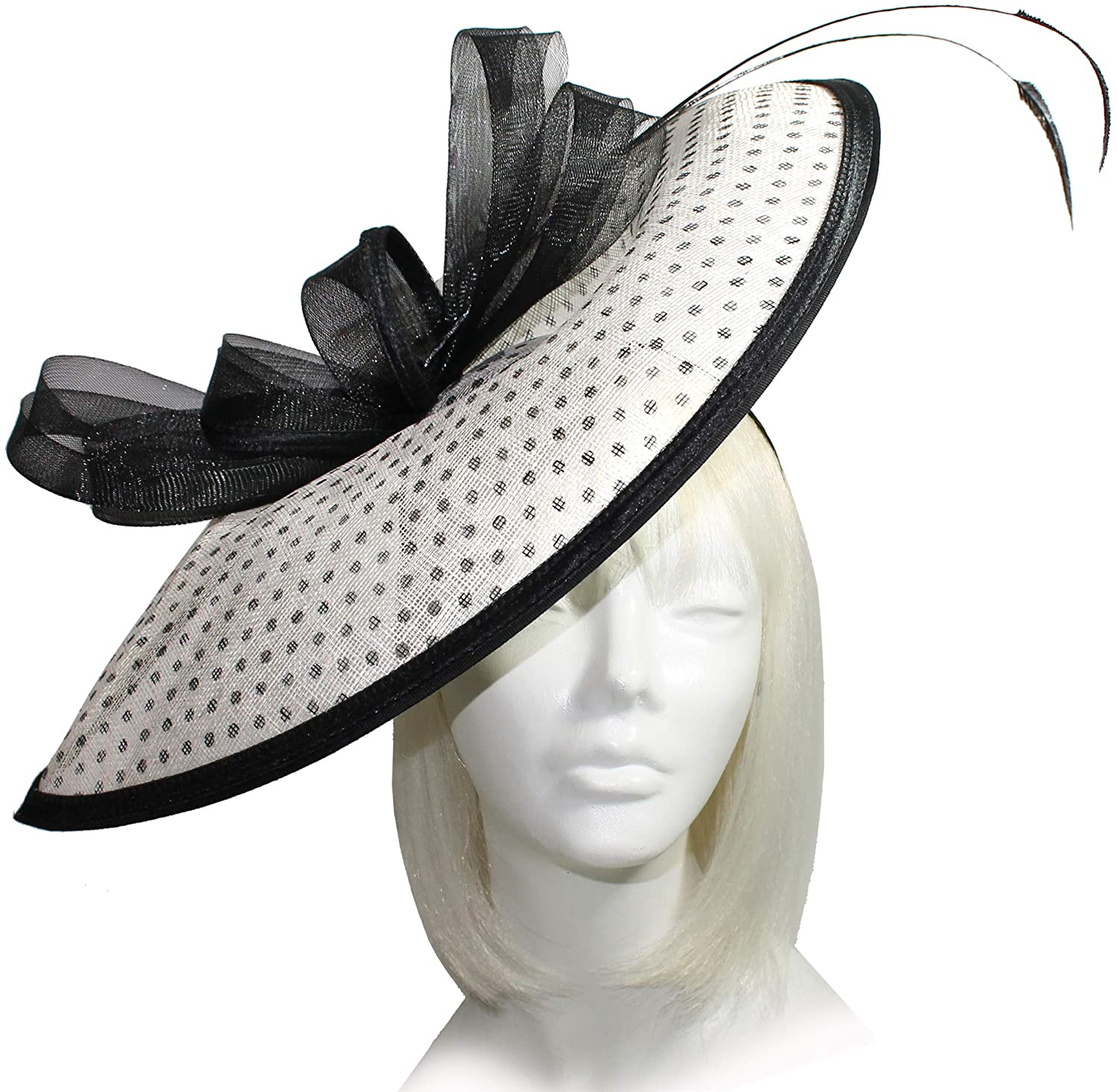 Mr. Song Millinery Derby/Ascot Sinamay Profile Fascinator - SF63