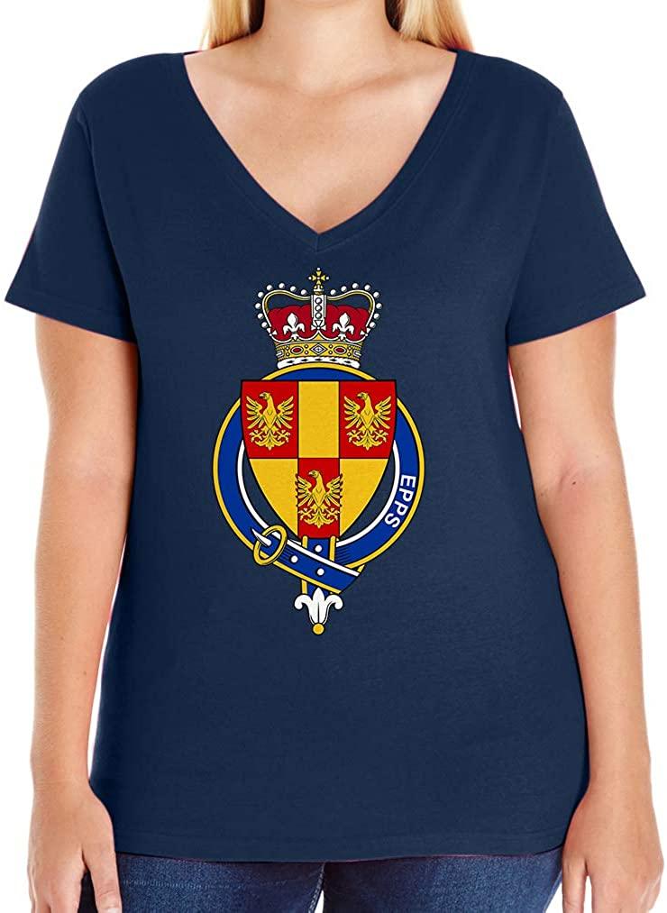 Tenacitee Women's English Garter Family EPPS V-Neck T-Shirt