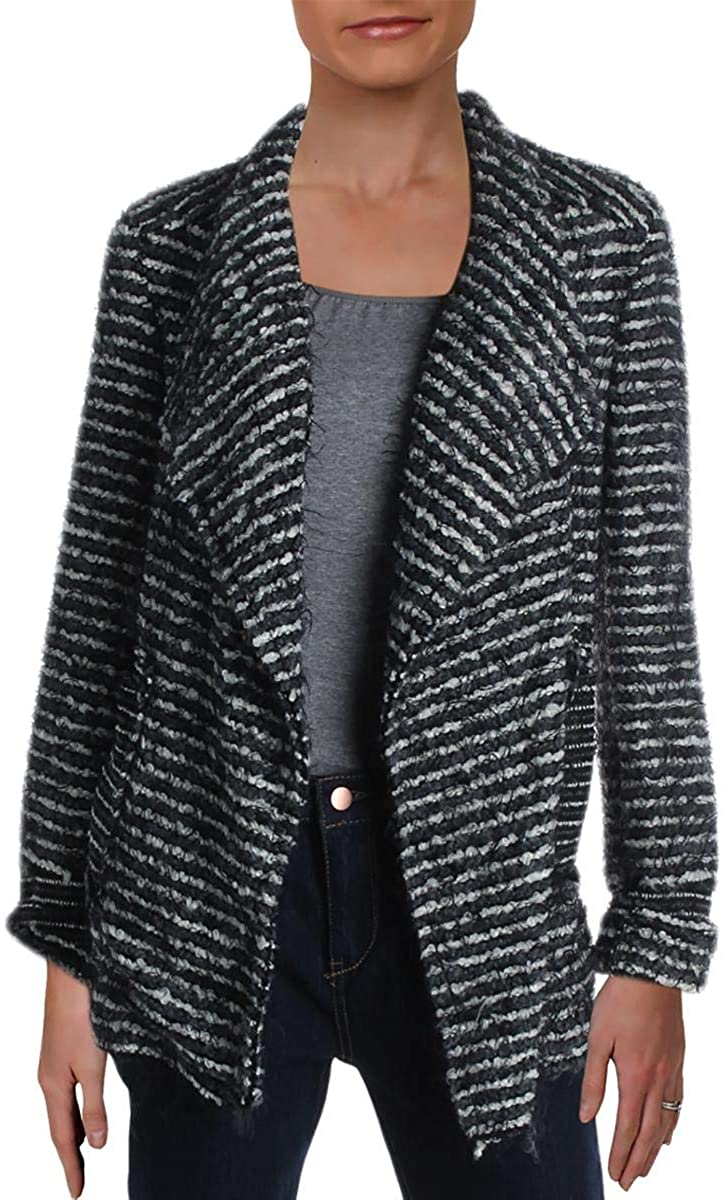 Lola Womens Drape Front Striped Jacket
