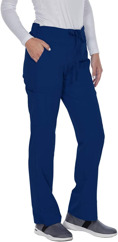 Grey's Anatomy Signature Women's 3 Pocket Low Rise Scrub Pant, Indigo, X-Large Petite