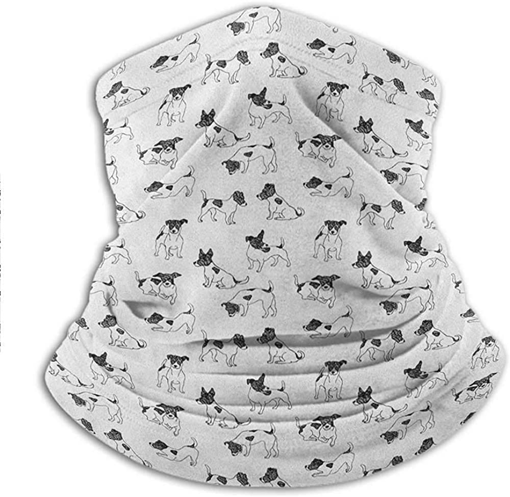 Headbands Sketch Style Hand Drawn Jack Russell Terrier Doodles in Various Stances Purebred Summer Bandana Face Cover Avoid Inhaling Too Much Dust 10 x 11.6 Inch