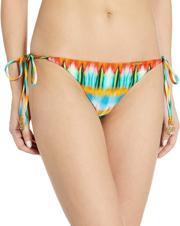 Luli Fama Women's Ocean Whispers Seamless Brazilian Tie Ruched Bikini Bottom