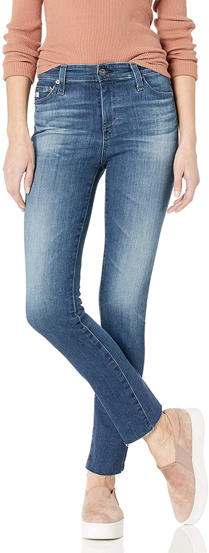 AG Adriano Goldschmied Women's Mari High Rise Slim Fit Straight Leg Jean