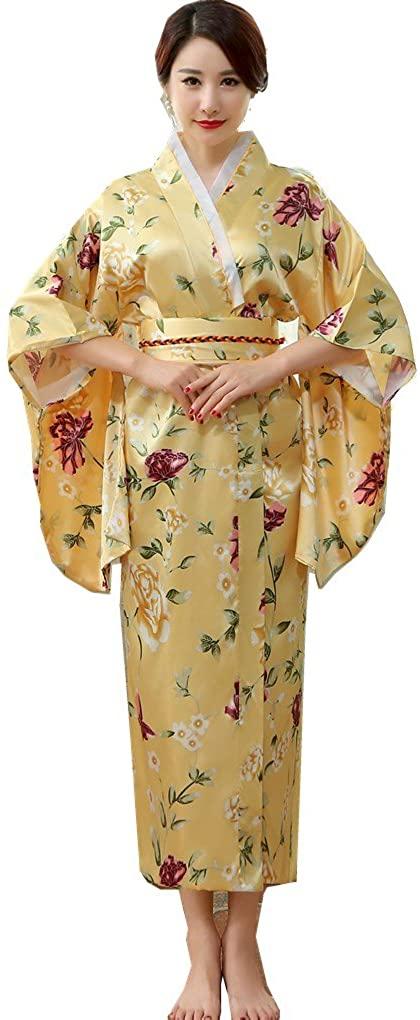 Shanghai Story Yukata Women's Elegant Charming Short Kimono Robe