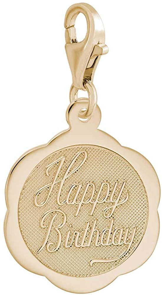 Rembrandt Charms Birthday Charm with Lobster Clasp, 10K Yellow Gold