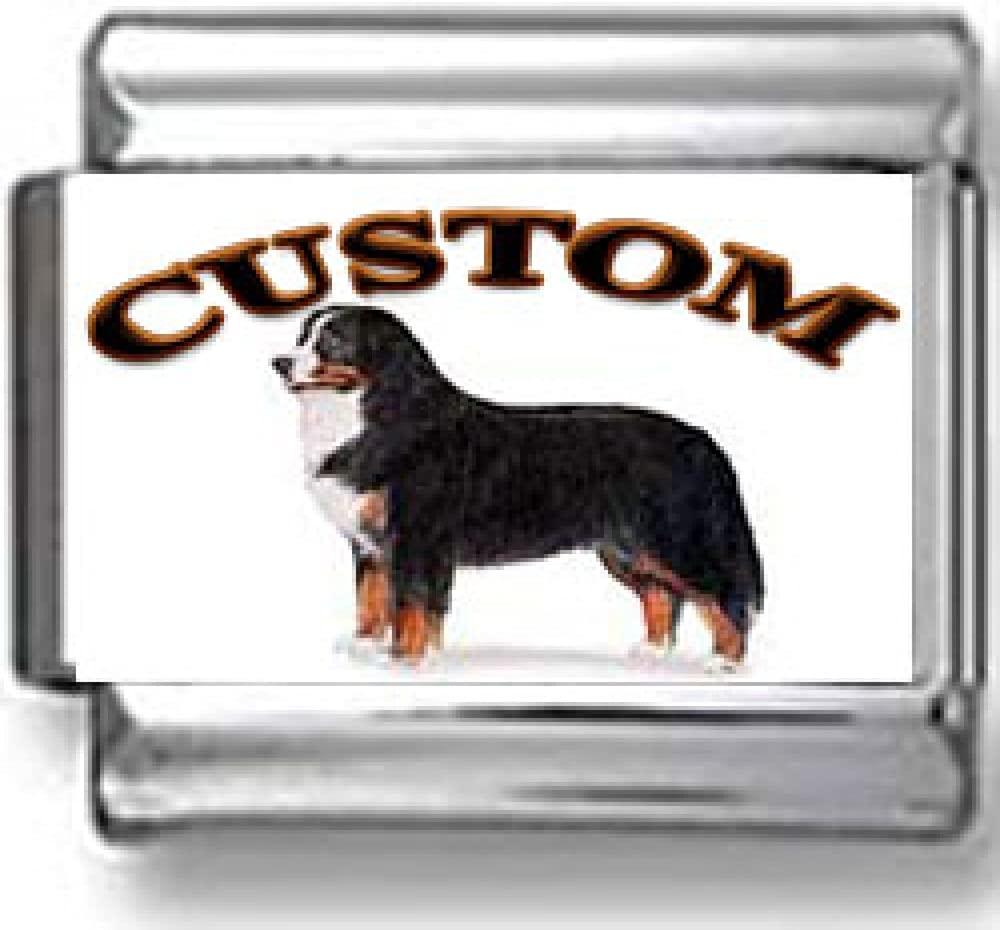 Bernese Mountain Dog Custom Photo Italian Charm