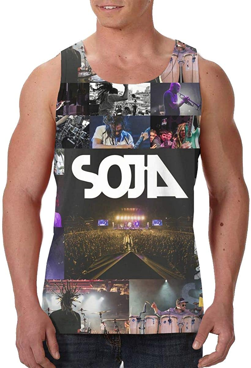 SOJA Men's Stylish 3D Printed Tank Sleeveless Tank Top