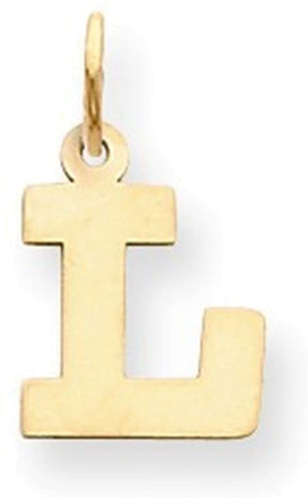 Jewelry Adviser Charms 14k Small Block Initial L Charm