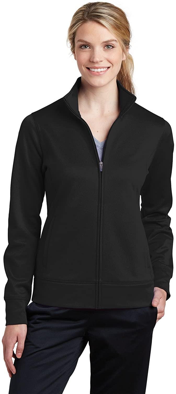 Sport-Tek Women's Sport-Wick Fleece Full-Zip Jacket LST241 Black XS