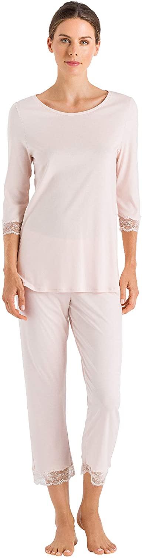 HANRO Women's Valencia Crop Pajama 76999, Crystal Pink, X-Small