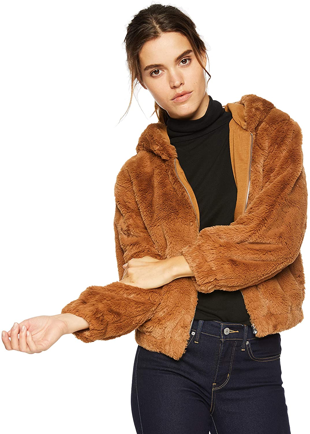 French Connection Womens Faux Fur Jackets