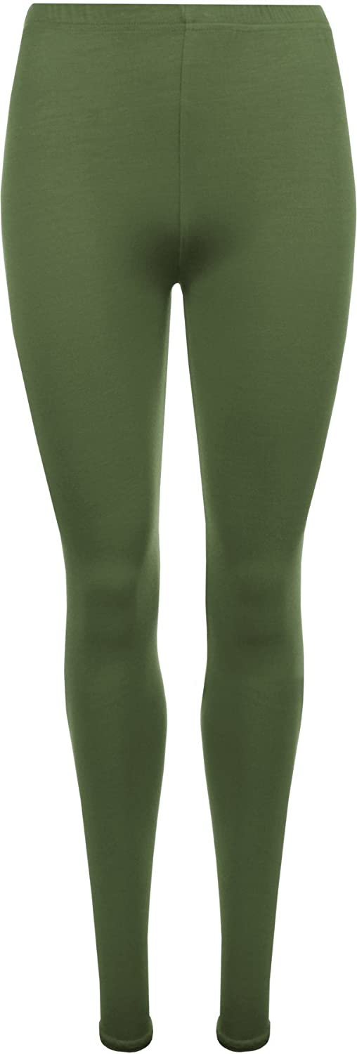WearAll Plus Size Women's Full Length Leggings - Khaki Green - US 16-18 (UK 20-22)