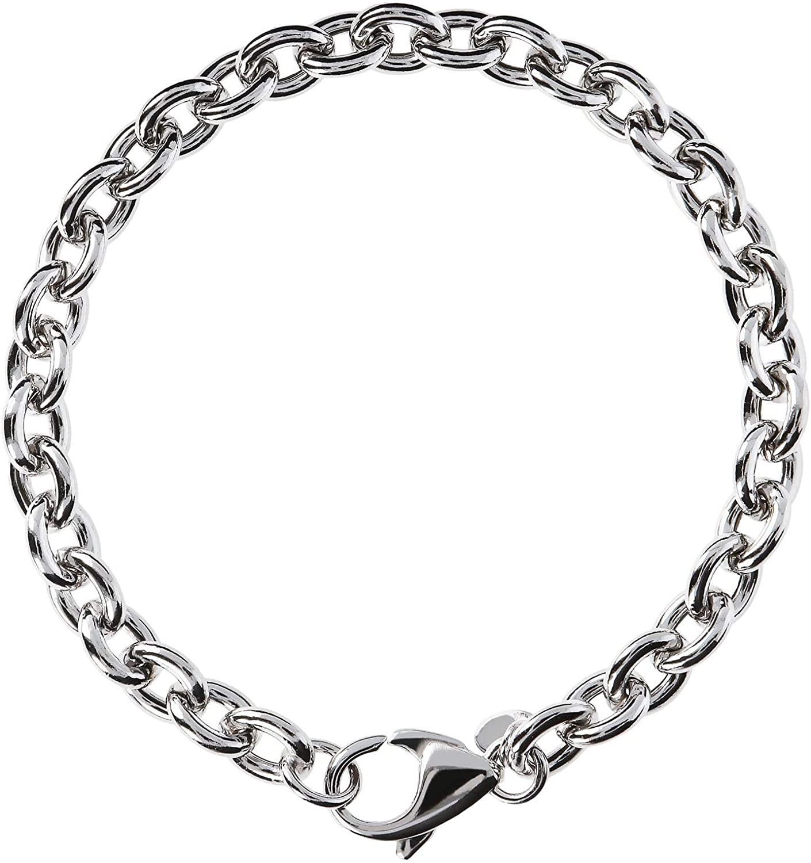 950 Milano Womens Sterling Silver 950 Polished Oval Rolo Link Bracelet
