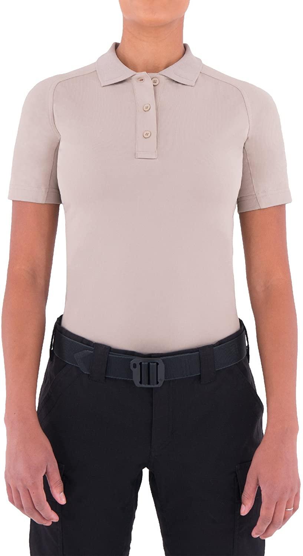 First Tactical Womens Performance Short Sleeve Polo Khaki XS