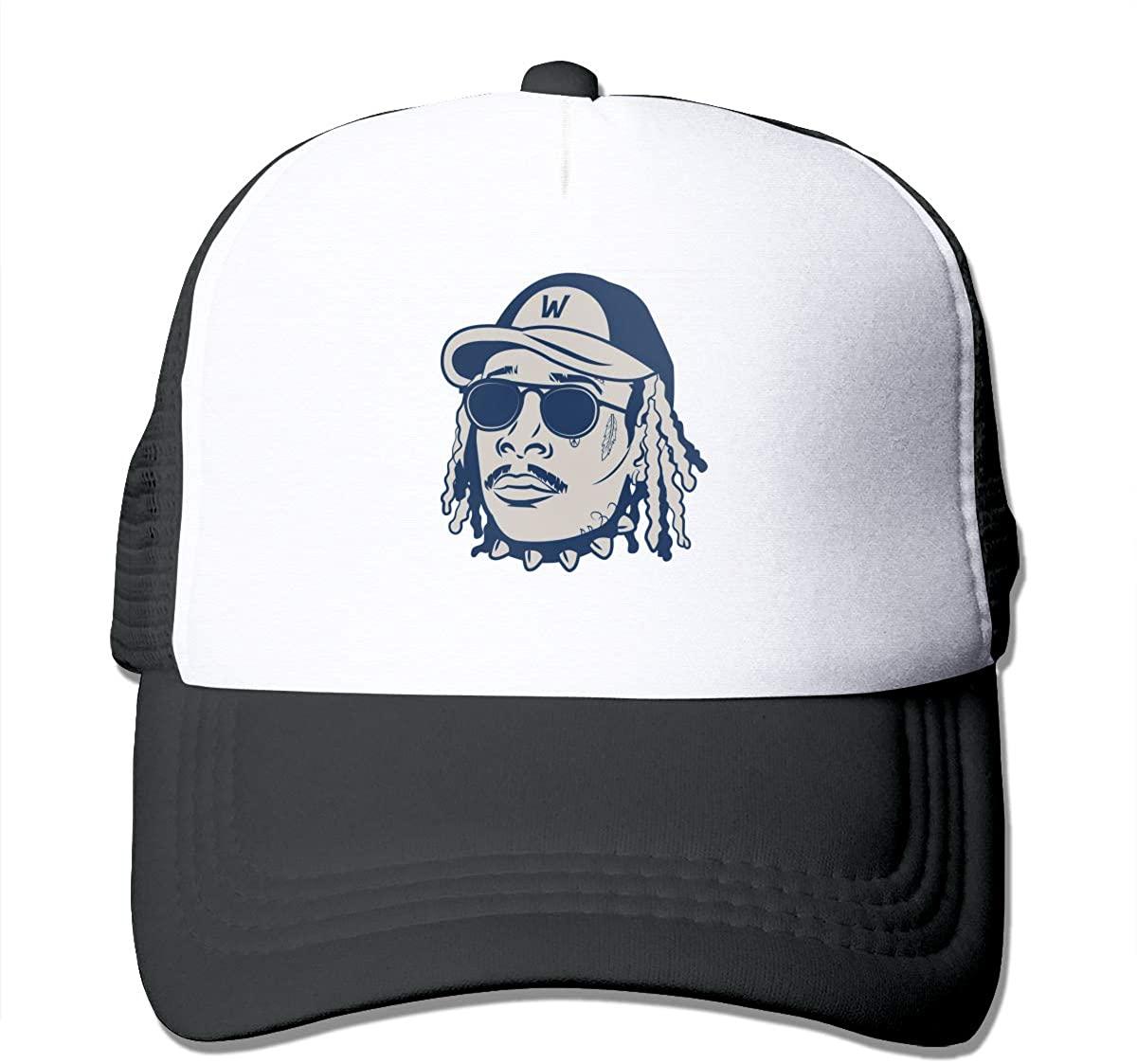 Shanke Fashion Wiz Khalifa Logo Trucker Hat Adjustable Outdoors Sports Mesh Snapback Baseball Cap