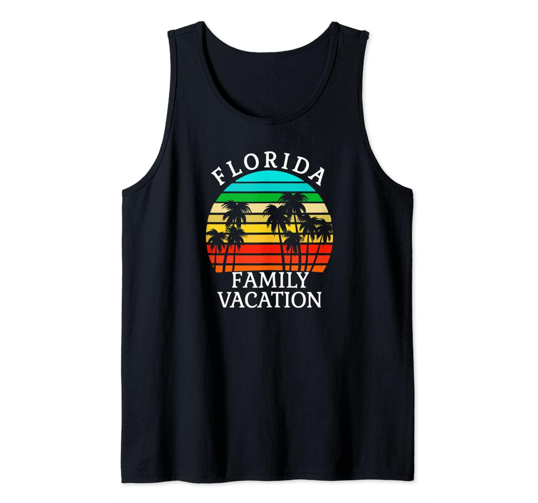Florida Family Vacation Shirt Vintage Sunset Palm Trees Tank Top