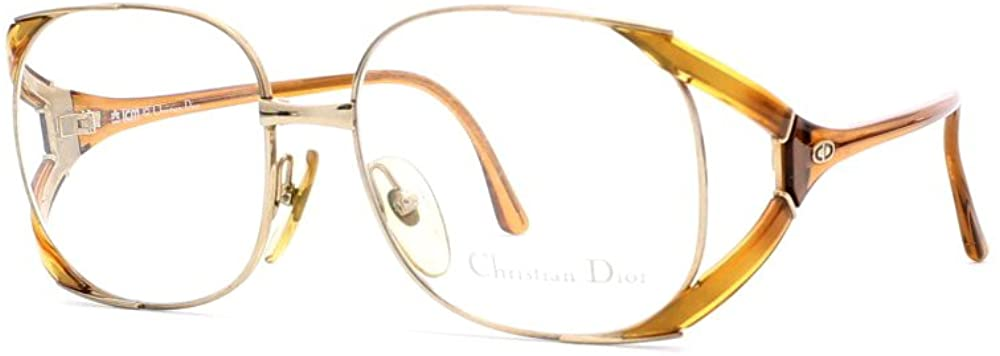 Christian Dior 2524 42 Brown and Gold Authentic Women Vintage Eyeglasses Frame