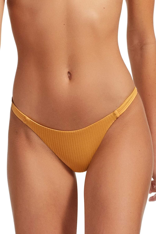 Vitamin A Women's Marigold Ecorib Hipster Bikini Bottom