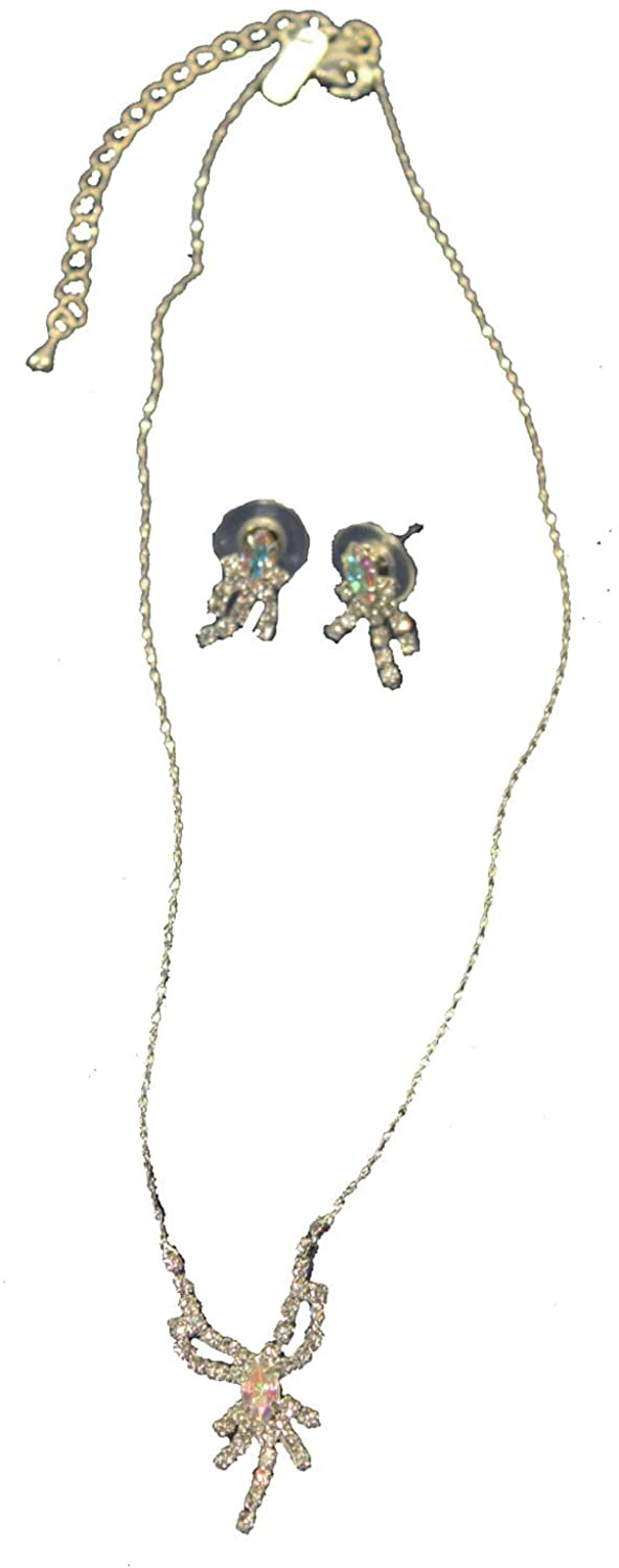 Silver and Crystal Necklace and Earring Set