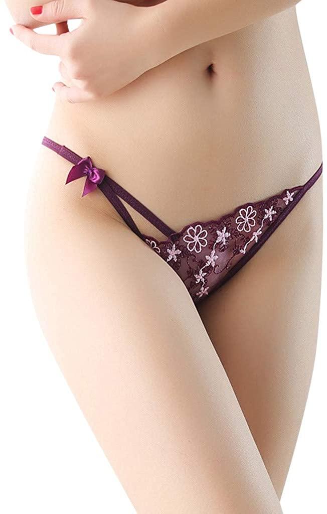 Golike Panties Underwear Hipster Panties Sexy Lace Briefs for Women Panties Thong Word Pants Ladies Briefs