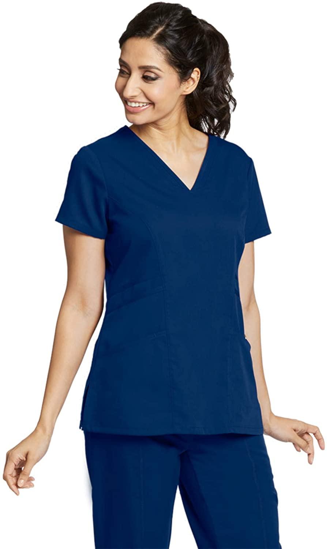 Grey's Anatomy 41452 Women's V-Neck Scrub Top Indigo 2XL