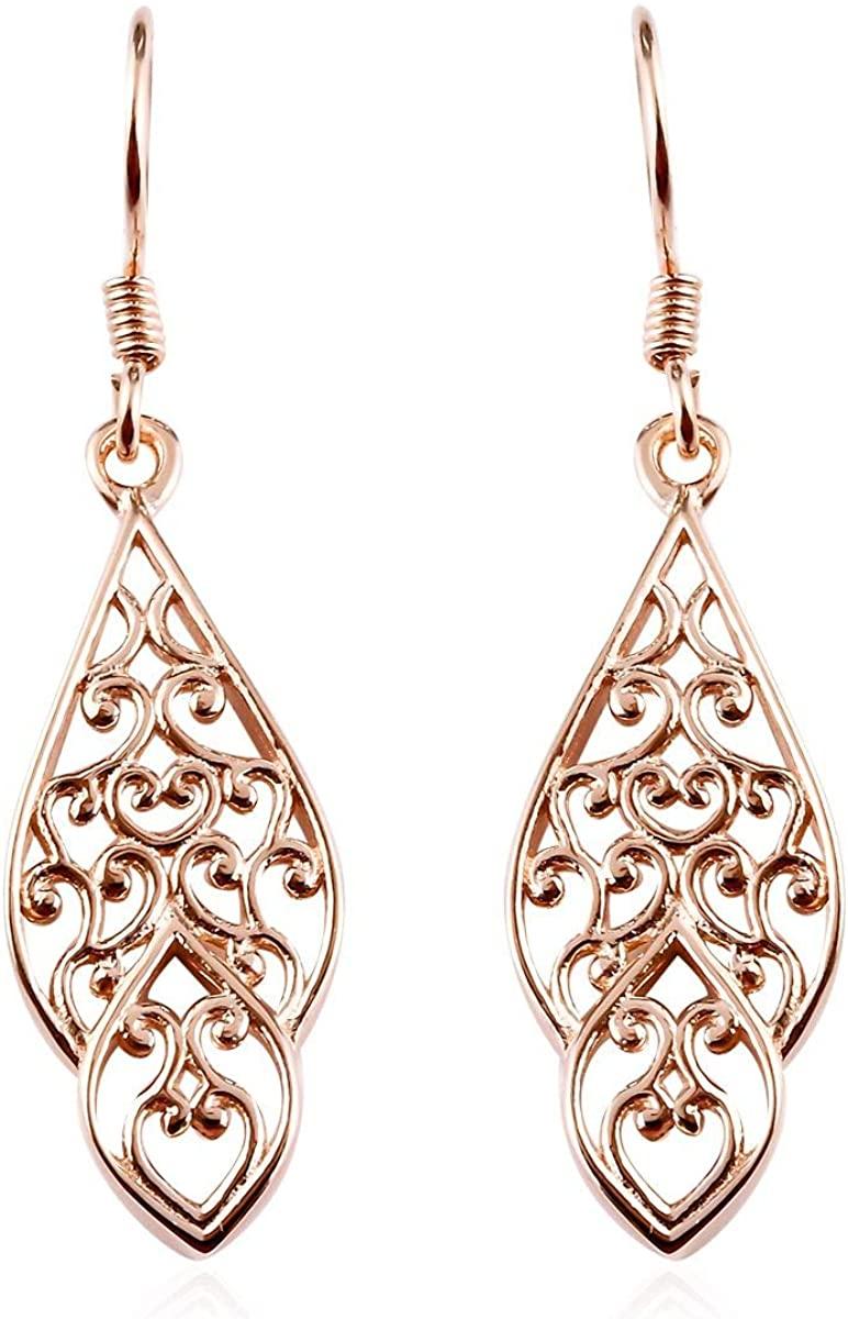 925 Sterling Silver 14K Rose Gold Plated Dangle Drop Earrings for Women Jewelry Gift