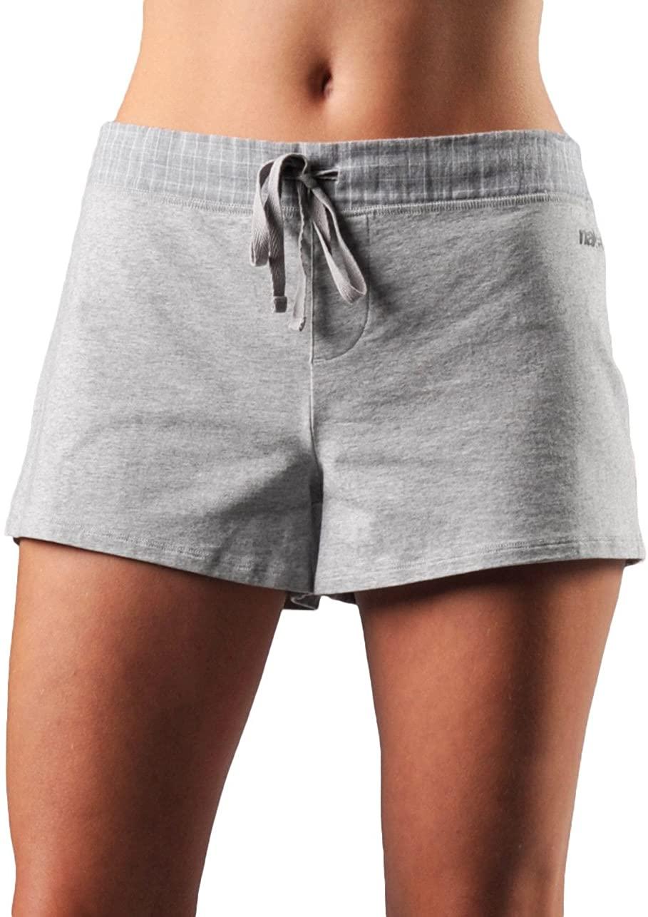 Naked Womens Essential Causal Shorts Double Cotton Loungewear Gauze Stretch Lounge Pajama Bottom Sleepwear for Ladies