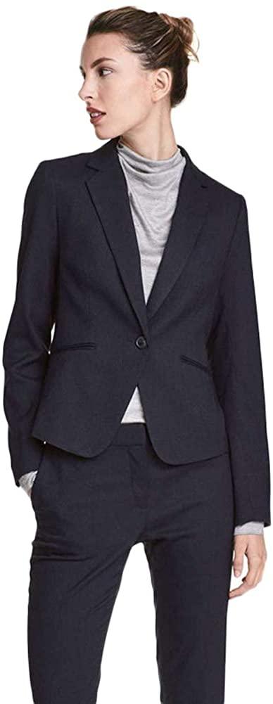 AK Beauty ❤️Women Black Business Suits 2 Piece Jacket and Pant Sets Women Office Suit Casual Suit