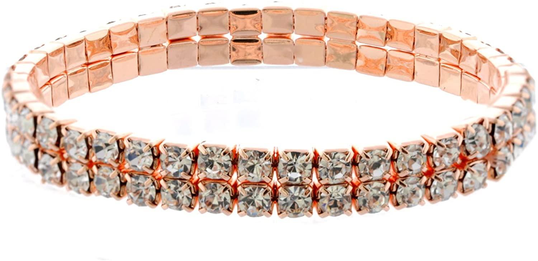 Topwholesalejewel Rose Gold Plating Stretch Bracelet