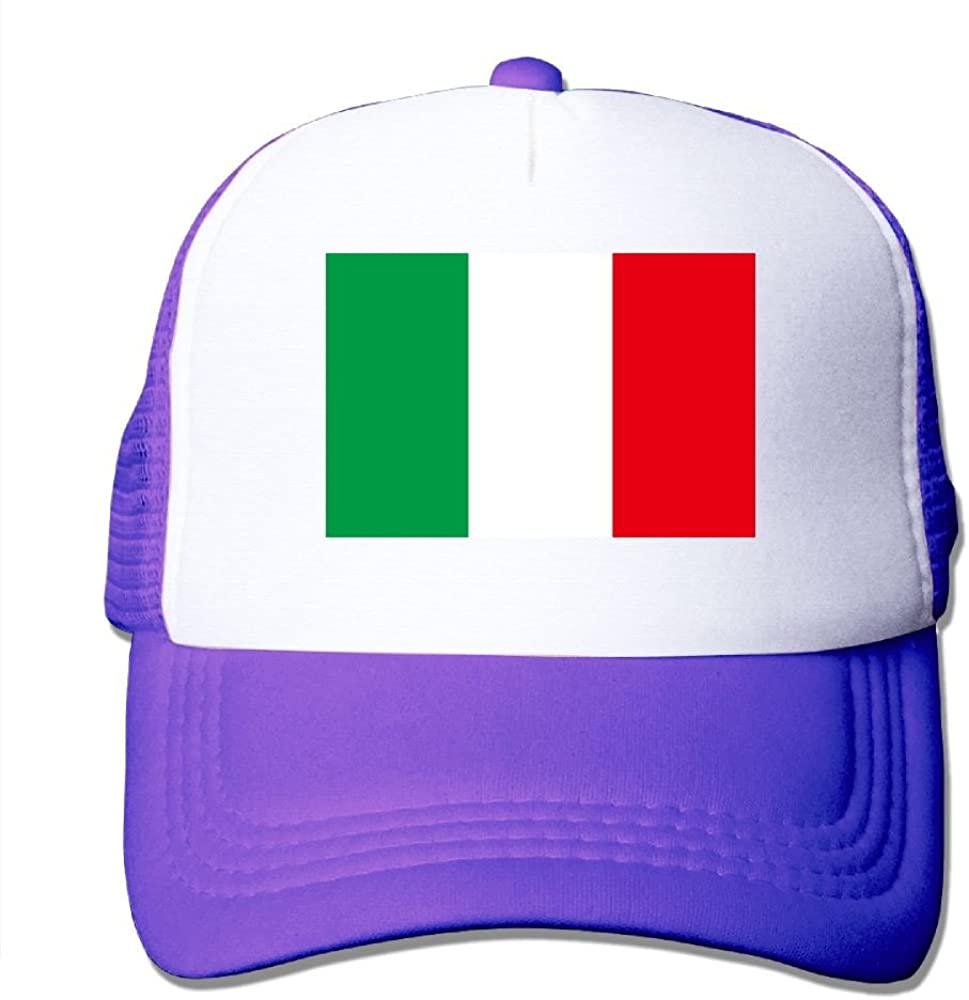 TO-JP Italy Flag Mesh Hat Baseball Caps Adjustable Trucker Cap Headwear