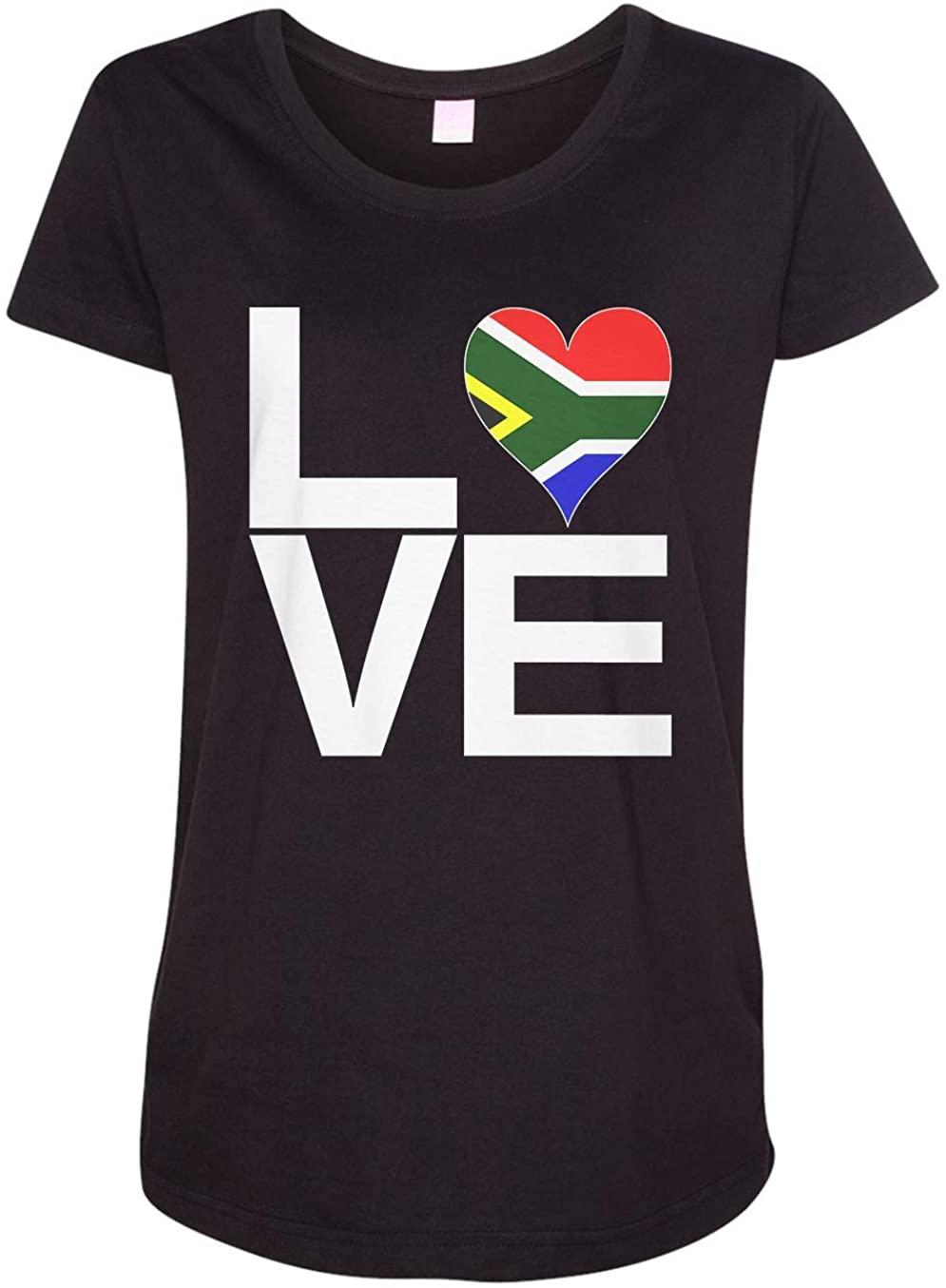 Tenacitee Ladies Love Block South Africa Heart Maternity Shirt