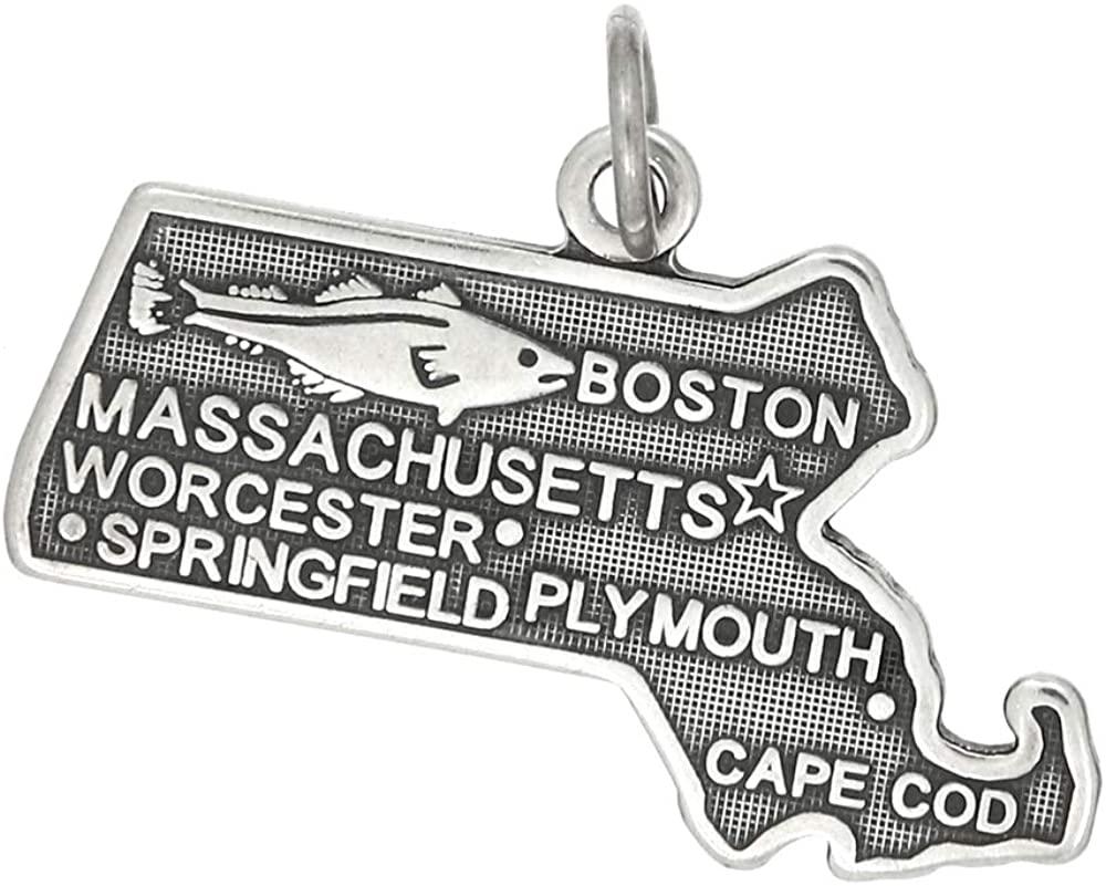 LGU Sterling Silver Massachusetts State Charm