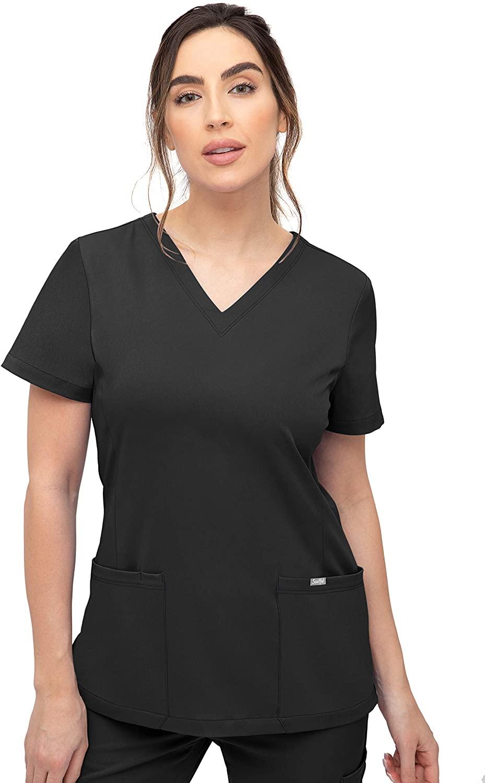 SOULFUL SCRUBS 3002 Chloe 2-Pocket, V-Neck Top - Stylish Medical Scrub Top for Women