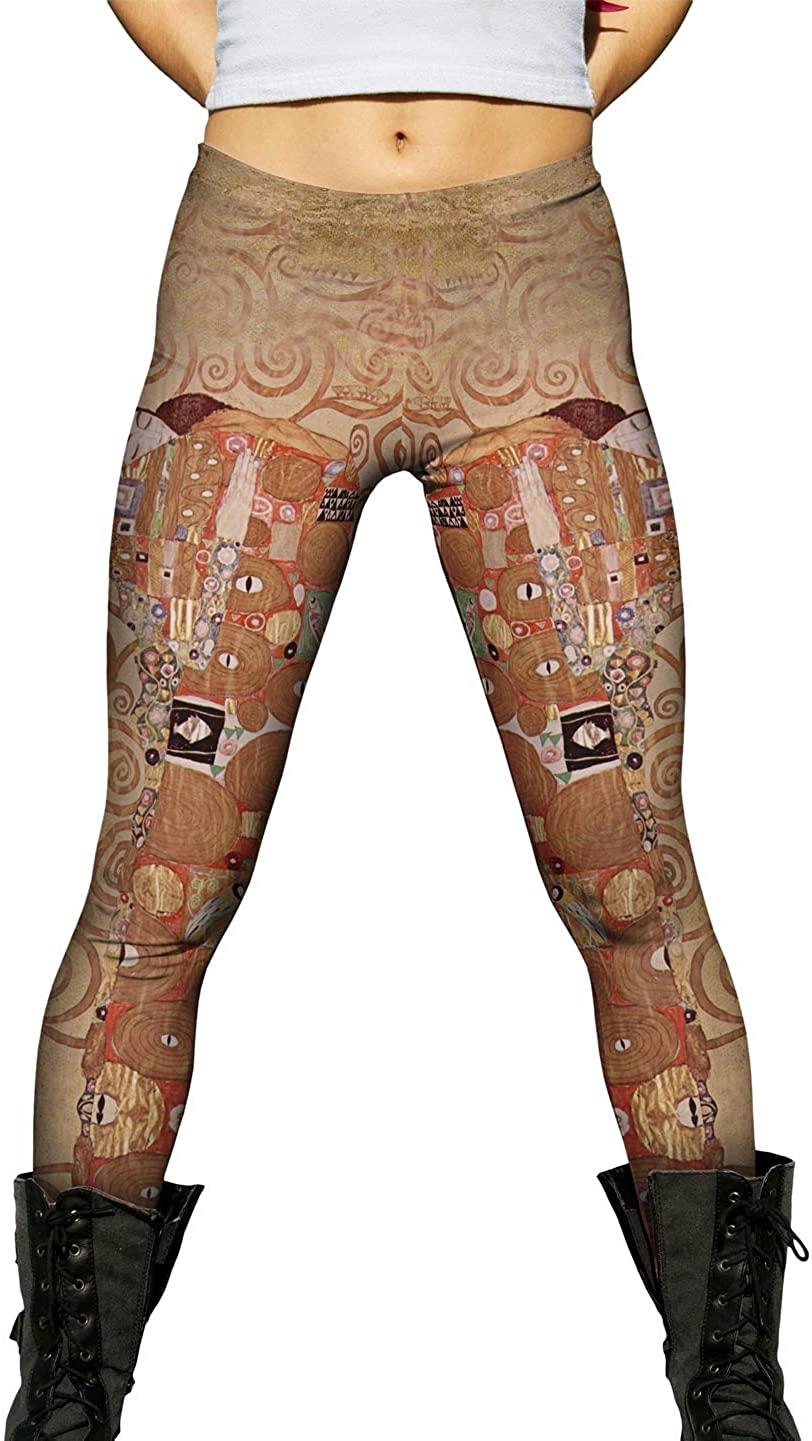 Yizzam- Klimt - Fulfilment (1905) -New Ladies Womens Leggings