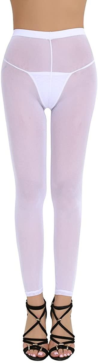 ACSUSS Women's Semi Opaque Tights Sheer Footless Pantyhose Seamless Leggings