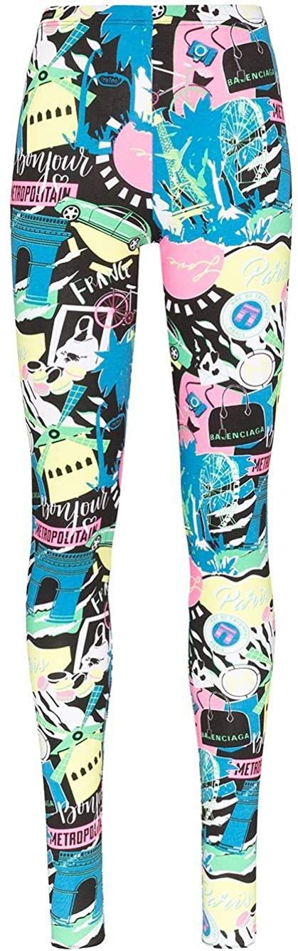 Balenciaga Luxury Fashion Woman 594591TGV691045 Light Blue Cotton Leggings | Spring Summer 20